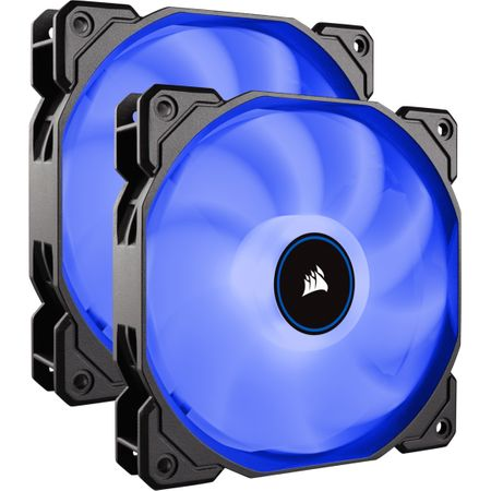 Ventilator PC Corsair AF140, Dual Pack - Blue