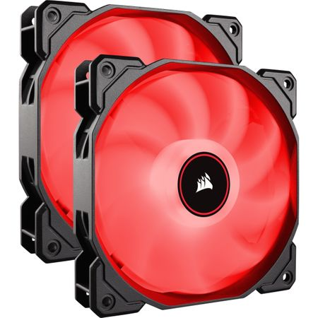 Ventilator PC Corsair AF140, Dual Pack - Red