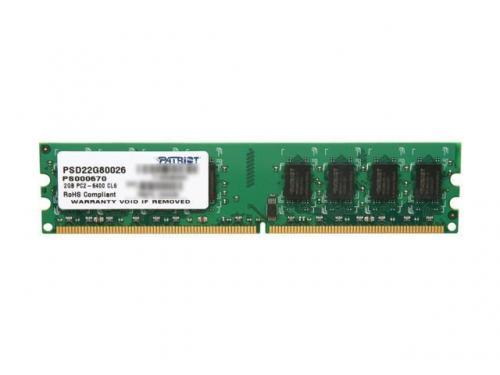 Memorie Patriot PSD22G80026, 2GB DDR2, 800 MHz, CL 6