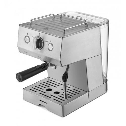 Espresor Heinner HEM-1140SS,1140W, pompa presiune: 20bar, capacitate rezervor detasabil 1.5L, preparare espresso si spuma de lapte, protectie supraincalzire, valva de siguranta presiune, tavita de scurgere detasabila, Argintiu