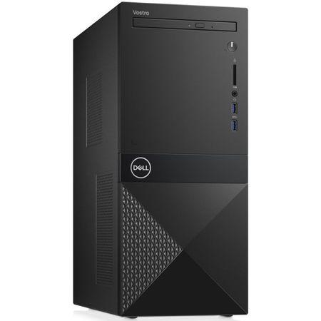 Sistem desktop PC Dell Vostro 3670 MT, Intel Core i5-8400 2.8GHz, RAM 8GB DDR4, SSD 256GB M.2, DVDRW, wireless+BT, tastatura+mouse, 3 ani garantie