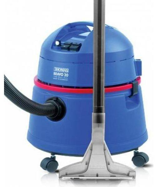 Aspirator Thomas Bravo 20 788074, 1400W, sistem special cu presiune de pulverizare, recipient 20L pentru murdarie umeda si uscata, recipient apa 3.6L, Albastru