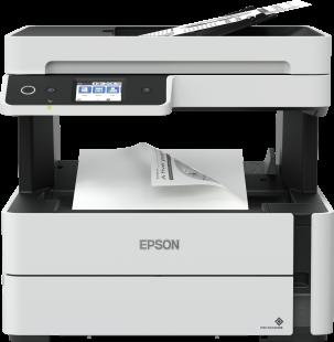 Multifunctional inkjet alb-negru Epson EcoTank CISS M3140, A4 (Printare, Copiere, Scanare, Fax), duplex, viteza 20ppm, ADF, USB 2.0