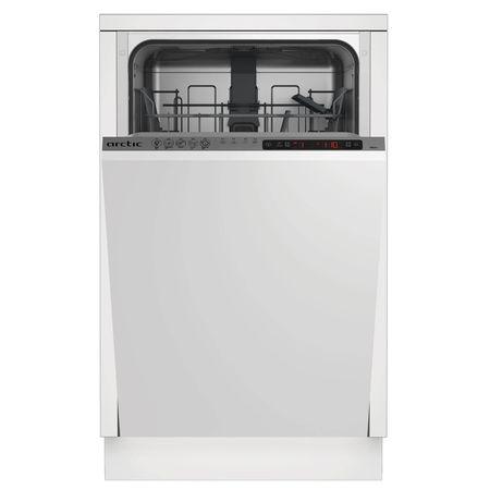 Masina de spalat vase incorporabila Arctic BI45A++, 10 seturi, 5 programe, Clasa A++, Motor Silent Inverter, 45 cm, Gri