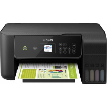 Multifunctional inkjet color Epson EcoTank CISS L3160, A4, viteza 10ppm a/n, 5ppm color, LCD, USB 2.0, WI-FI direct