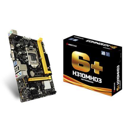 Placa de baza BIOSTAR H310MHD3, Intel H310M, Socket 1151, 2XDDR3L, VGA+HDMI, mATX, retail