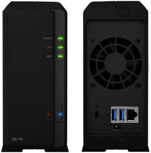 Network Attached Storage Synology DS118, Black