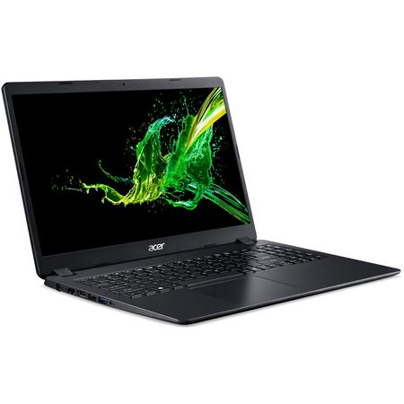 "Notebook Acer Aspire 3 A315-54K, 15.6"" HD LED, Intel Core i3-8130U 2.2GHz, RAM 4GB DDR4, SSD 256GB NVMe, Intel UHD Graphics 620, Linux, Black"