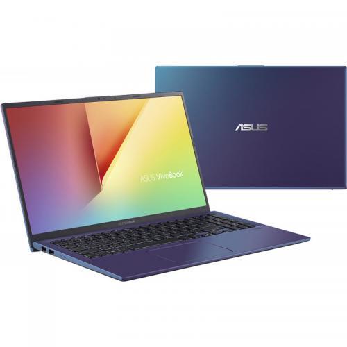 """Notebook ASUS VivoBook 15 X512JP-EJ180, 15.6"""" FullHD LED, Intel Core i5-1035G1 1.00GHz 4C/8T (pana la 3.6GHz), RAM 8GB DDR4, SSD 512GB, video MX330 2GB DDR5, FP, tastatura iluminata, blue"""