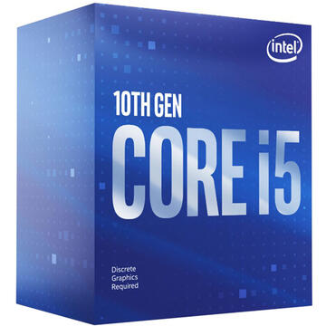Procesor Intel Core i5-10400F, 2.90/4.30GHz, 6C/12T, 12MB cache, Socket LGA1200, BOX