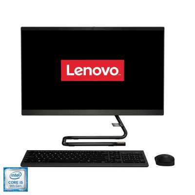 """Sistem All-in-One Lenovo IdeaCentre A340-24ICK, 23.8"""" LED FullHD, i5-9400T 1.8GHz, RAM 4GB, SSD 128Gb + HDD 1TB, DRW, tastatura+mouse, DOS"""