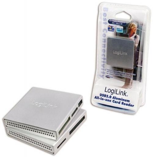 Cititor de card extern LogiLink CR0018, Silver