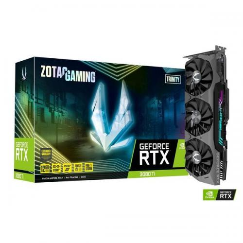 Placa video ZOTAC Gaming GeForce RTX 3080 Ti Trinity, RTX 3080 Ti, 12GB DDR6X (384bit), DP, HDMI, ARGB, retail