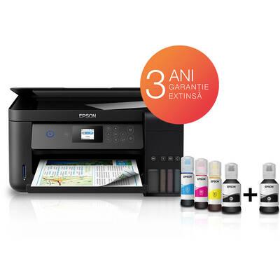Multifunctional inkjet color CISS Epson L4260, A4, printare duplex, copiere, scannare, 10.5ppm, USB2.0, wireless, Smart Panel