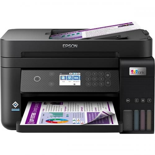 Multifunctional inkjet color CISS Epson L6270, A4, printare, copiere, scannare, 15ppm, duplex, ADF, USB2.0, LAN, wireless, negru, Smart Panel