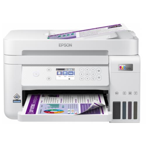 Multifunctional inkjet color CISS Epson L6276, A4, printare, copiere, scannare, 15ppm, duplex, ADF, USB2.0, LAN, wireless, alb, Smart Panel