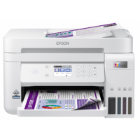 1 x Multifunctional inkjet color CISS Epson L6276, A4, printare, copiere, scannare, 15ppm, duplex, ADF, USB2.0, LAN, wireless, alb, Smart Panel