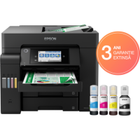 1 x Multifunctional inkjet color CISS Epson L6550, A4 (Printare, Copiere, Scanare, Fax), 32ppm/22ppm, duplex, DADF, fax, LAN, wireless