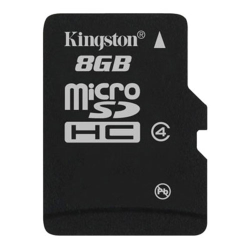 Card memorie Kingston Micro-SDHC 8GB, Class 4, adapter