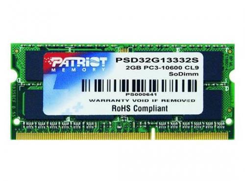 Memorie laptop Patriot Signature 2GB DDR3 1333MHz