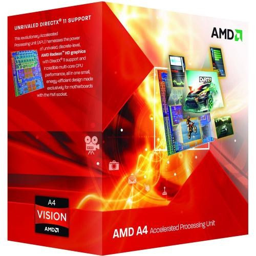 Procesor AMD A4 X2 4000 3GHz/3.2GHz, Socket FM2, BOX