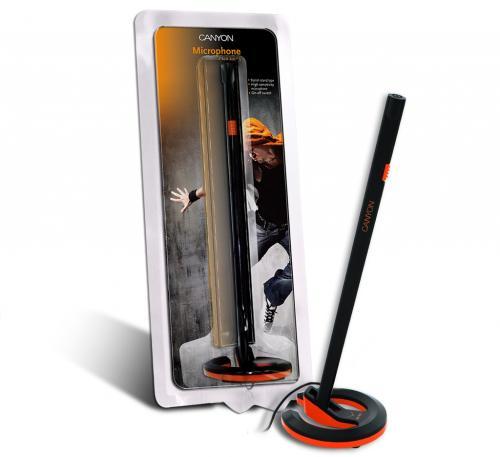 Microfon Canyon CNR-MIC01N, Black/Orange
