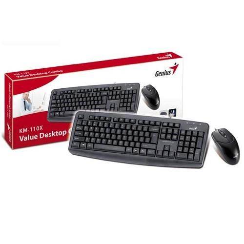 Kit tastatura + mouse Genius KM-110X, Black, USB
