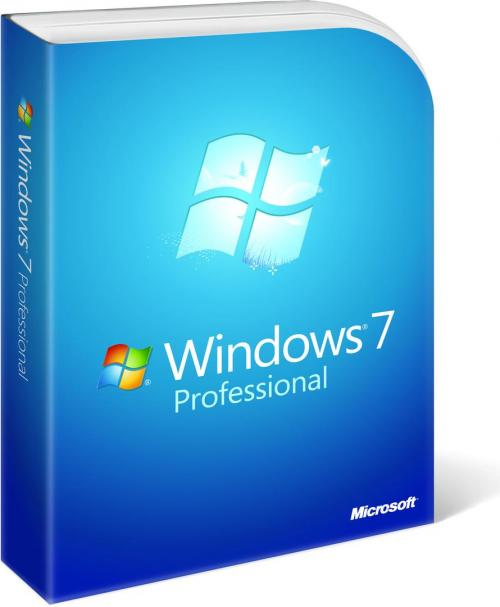 Microsoft Windows Professional 7 SP1, 64-bit, English