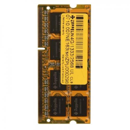 Memorie Zeppelin DDR3 SODIMM 2GB, 1333Mhz, CL9