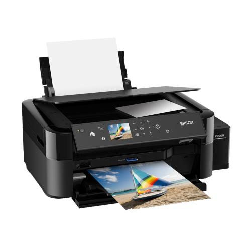 Multifunctional inkjet color Epson CISS L850, A4 (Printare, Copiere, Scanare), 37ppm, borderless, CD/DVD print, USB2.0