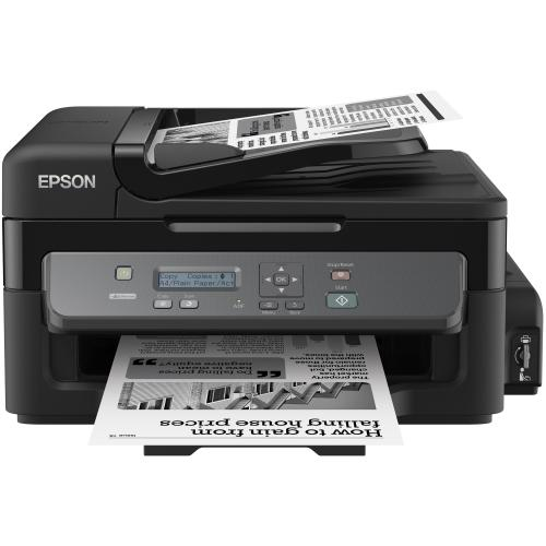 Multifunctional inkjet monocrom CISS Epson M200, A4 (Printare, Copiere, Scanare), 34ppm alb-negru, 1440x720dpi, ADF, USB 2.0, Ethernet