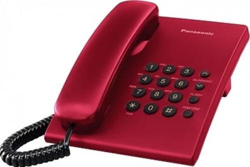 Telefon analogic Panasonic KX-TS500FXR, Rosu