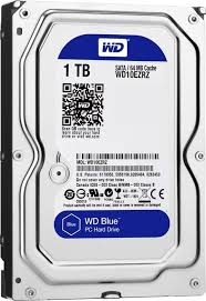 Hard-disk Western Digital Blue WD10EZRZ, 1TB, SATA3, 5400RPM, 64MB, 3.5""