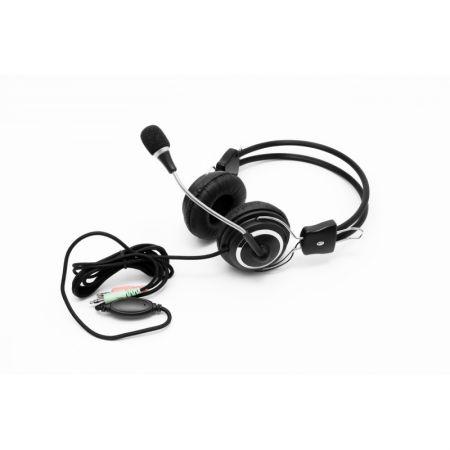Casti Spacer SPC-DJ001, microfon, jack 3.5mm, Black