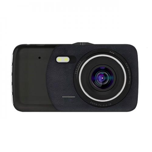 "Camera auto DVR Novatek T900s, 12MP, inregistrare FullHD@30fps, 170gr A+ lens, display LED IPS  4"", case metalic, negru"