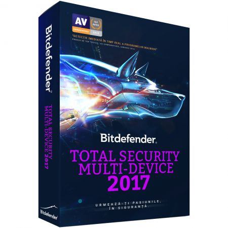 Antivirus BitDefender Total Security Multi-Device 2017, 3PC, 1 An, Retail