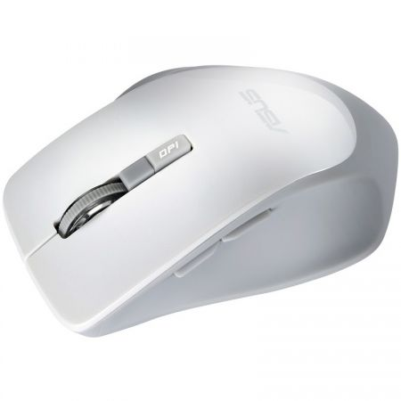 Mouse wireless ASUS WT425, 6 butoane, receiver USB, Alb