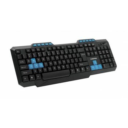 Tastatura LogiStep QWERT LSKB-518, Black