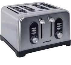 Prajitor de paine Heinner HTP-BK1400XMC, 1400W, Inox