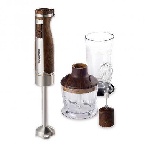 Mixer vertical Heinner HHB-1100WX, 1100W, 20 viteze, 3 accesorii, Wood/Inox