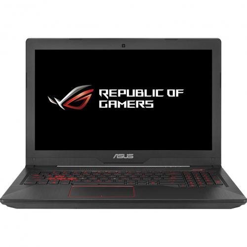 "Notebook ASUS Gaming FX503VD-E4150, 15.6"" FullHD LED IPS, procesor Intel Core i5-7300HQ 2.5GHz, RAM 8GB DDR4, SSD 256GB, video dedicat GTX1050 4GB GDDR5, tastatura iluminata, negru"