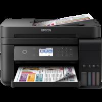 1 x Multifunctional inkjet color CISS Epson L6170, A4, printare, copiere, scannare, 15ppm, duplex, ADF, USB2.0, LAN, wireless, negru