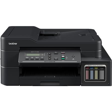Multifunctional inkjet CISS Brother DCP-T710W, print/scan/copy, A4, 12 ppm mono, 6 ppm color, ADF 20 coli, wireless, USB 2.0