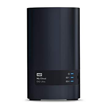 NAS Western Digital My Cloud EX2 Ultra WDBVBZ0040JCH-EESN, 4TB, USB 3.0, Black