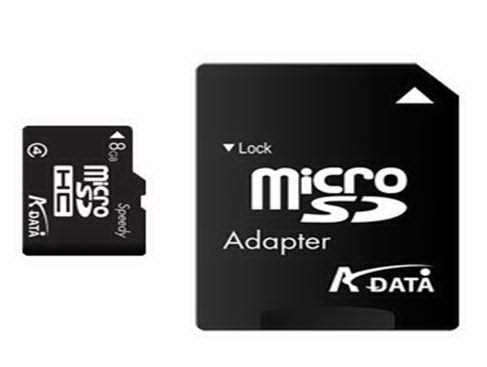Card memorie A-Data Micro-SD 8GB, SD Adapter