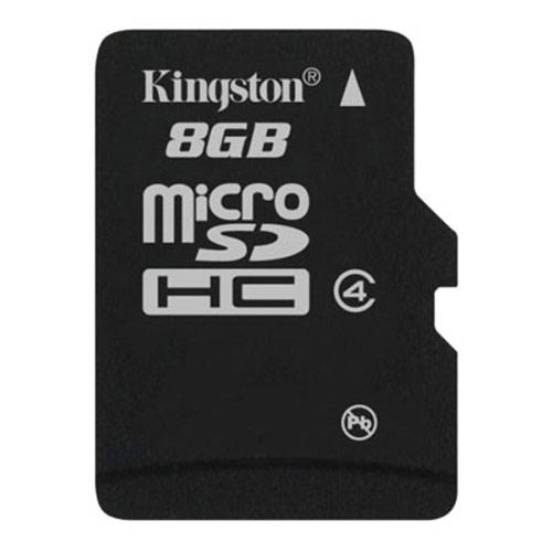 Card memorie Kingston Micro-SDHC 8GB, Class 4, adapter