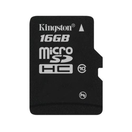 Card memorie Kingston Micro-SDHC 16GB, Class 10, cu adaptor SD